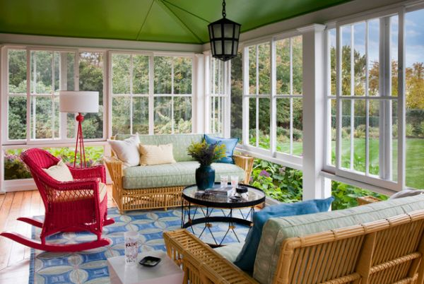 35 beautiful sunroom design ideas for Decoration veranda