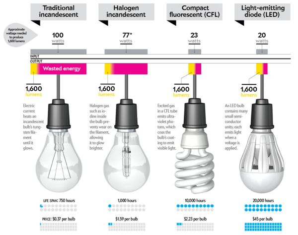 The Characteristics Of Energy-Efficient Light Bulbs