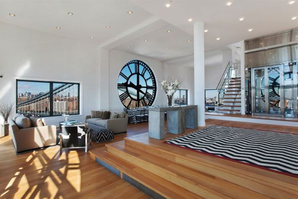 Old Clock Tower Converted Into A Modern Penthouse