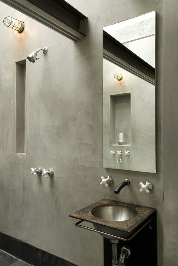 Concrete In The Bathroom. Great Pictures