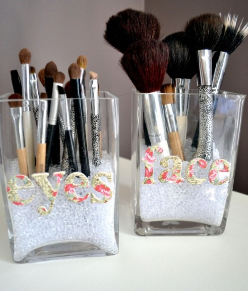 makeup brush holder beads. view in gallery. a very simple brush holder makeup beads t