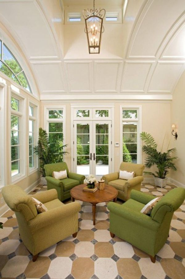 Amazing 35 Beautiful Sunroom Design Ideas