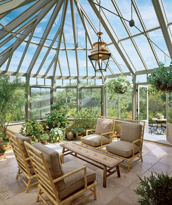 35 beautiful sunroom design ideas for Jardines de invierno fotos