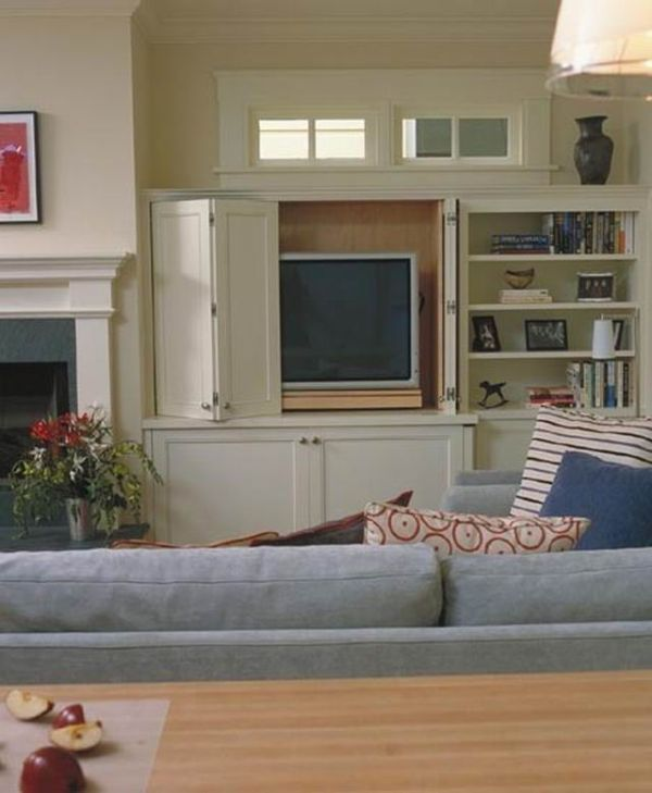 Hidden storage ideas for living rooms for Hiding a tv in the living room