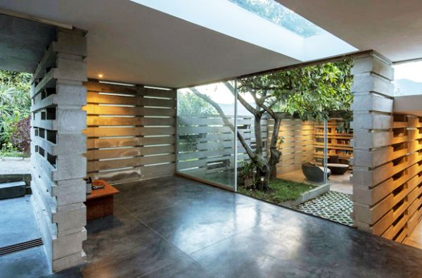 A modern house built from 900 concrete blocks for Cement block house
