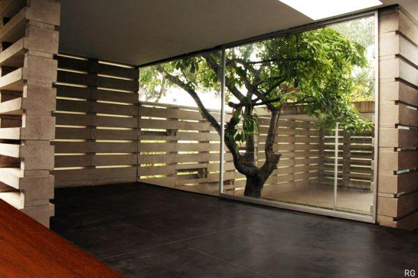 A Modern House Built From 900 Concrete Blocks