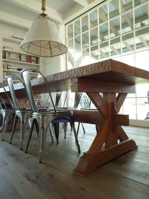 Fun With Farm Tables Ideas amp Inspiration : industrial chairs wood table from www.homedit.com size 600 x 799 jpeg 75kB
