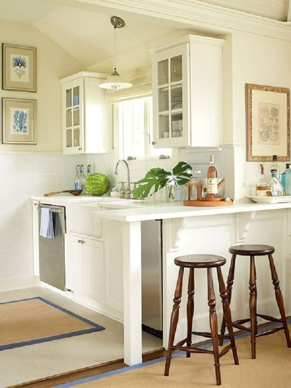 27 space saving design ideas for small kitchens for Small kitchen area ideas