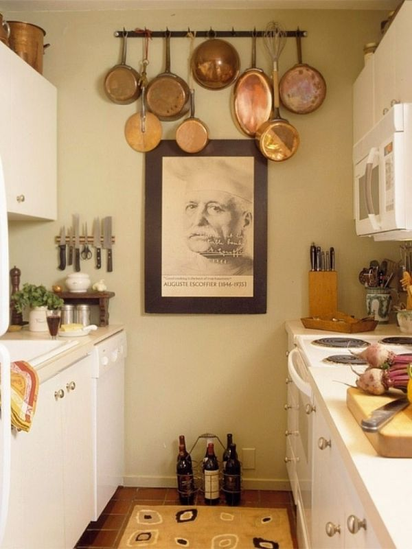 Use The Space On The Walls. In A Small Kitchen ... Nice Design