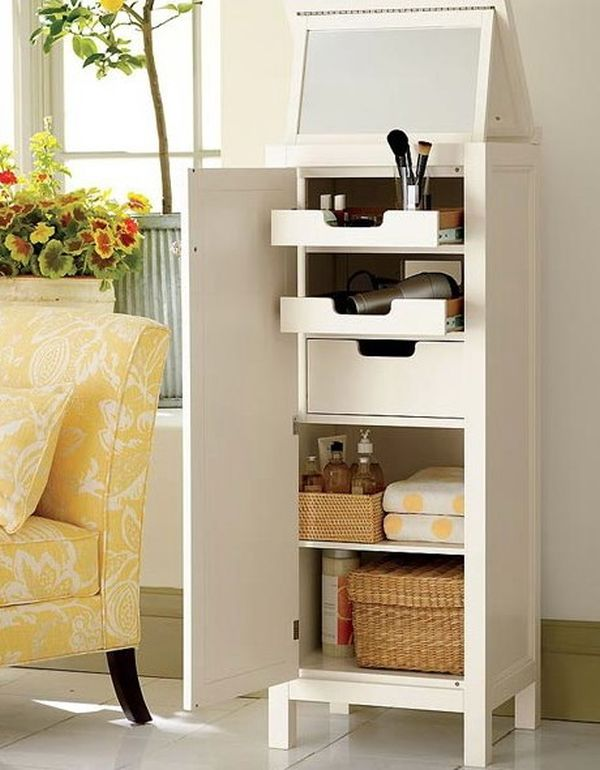 29 cool makeup storage ideas for small spaces - Cheap storage ideas for small spaces decor ...