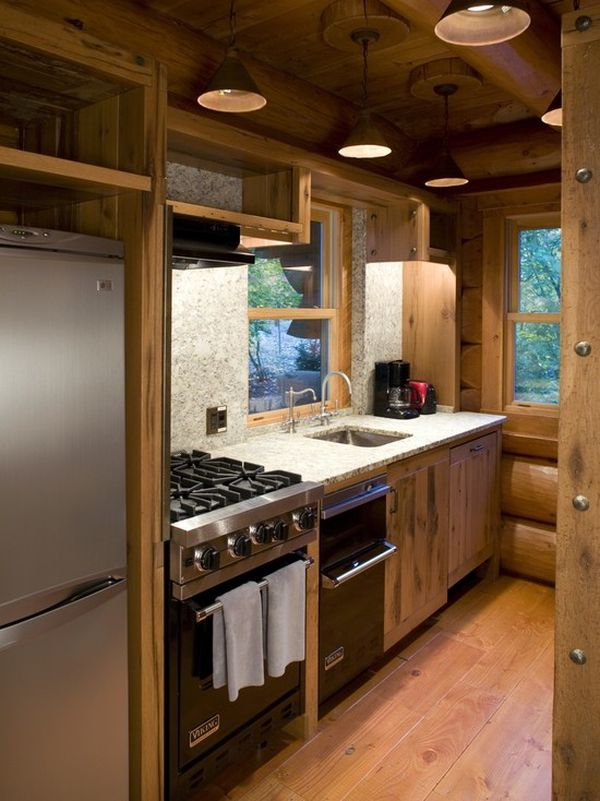 27 Space-Saving Design Ideas For Small Kitchens on plans for cabin kitchen, cabin interior design ideas, log decor kitchen, cabin decor for kitchen, cabin style kitchen ideas, cabin paint for kitchen, cabin kitchen decorating themes, log cabin interior design kitchen, cabin furniture for kitchen, cabin on a budget for kitchen, cabin kitchen cabinets, rustic lighting for kitchen, cabin kitchen remodeling ideas,