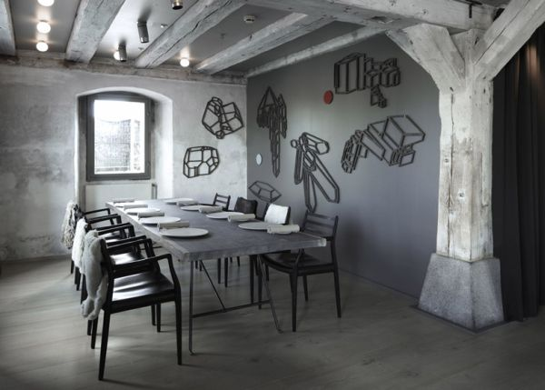 view in gallery - Gray Restaurant Decorating