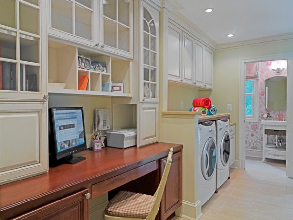 Laundry office Residential View In Gallery Homedit 42 Laundry Room Design Ideas To Inspire You