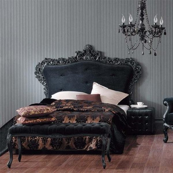 Black Bedroom Furniture Sets Gothic Bedroom Furniture Small Bedroom Arrangement For Couple Benjamin Moore Bedroom Color Ideas: 13 Mysterious Gothic Bedroom Interior Design Ideas
