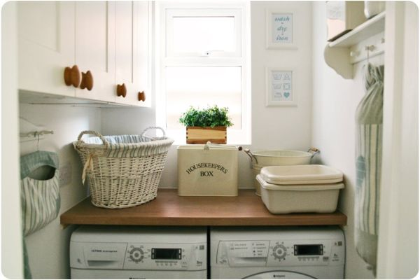 42 laundry room design ideas to inspire you for Small laundry design
