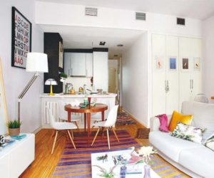 Cozy Tiny Apartment In Madrid With A Youthful And Chic Interior