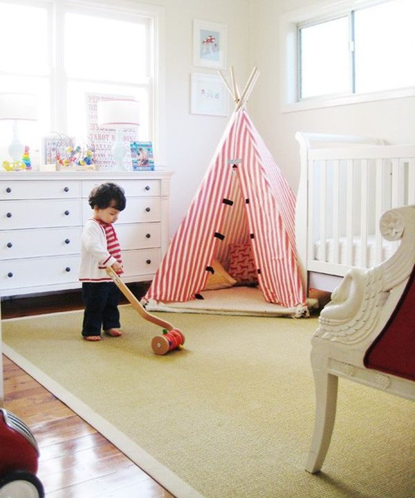 25 cool tent design ideas for kids room rh homedit com Tent Bedroom Furniture Outdoor Bedroom Ideas