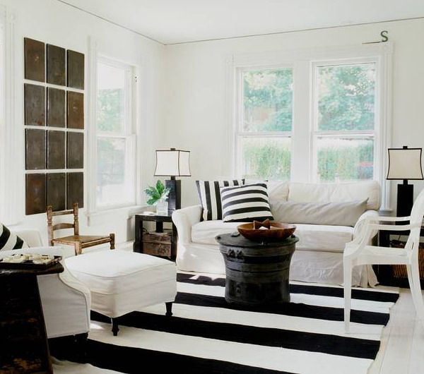 Classic black and white stripes. How To Choose A Striped Carpet That Complements Your Home