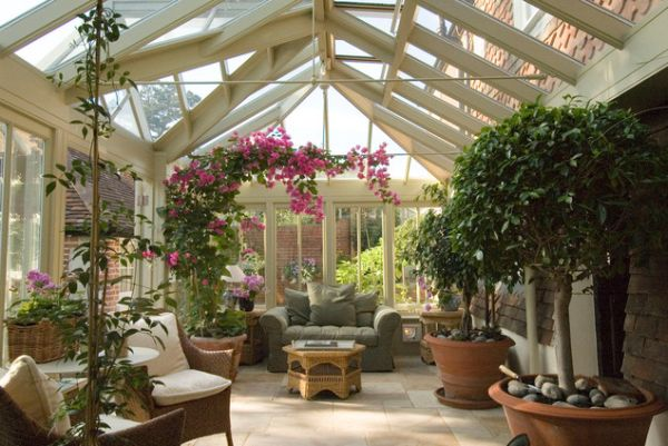 35 beautiful sunroom design ideas for Atrium design and decoration
