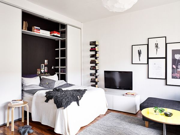 A 25 Square Meter Studio With Very Organized And Chic Interior
