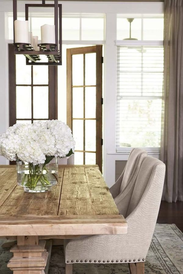 Fun With Farm Tables Ideas amp Inspiration : traditional dining room flowers from www.homedit.com size 600 x 900 jpeg 81kB