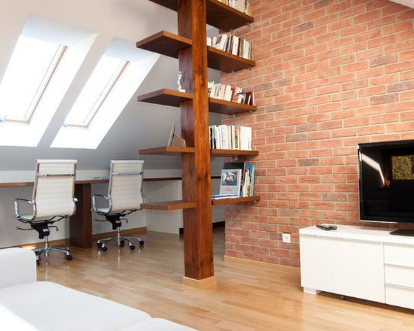 The Dividing Bookshelf. View In Gallery