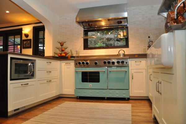 ... View in gallery You can combine modern and vintage appliances in the  kitchen ...
