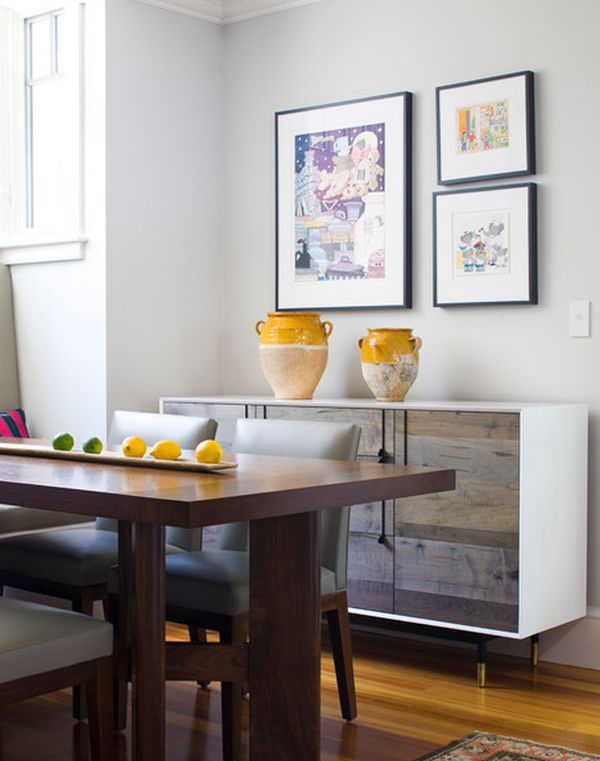 Modern Approaches To Dining Room Sideboards : white decor sideboard from www.homedit.com size 600 x 761 jpeg 49kB