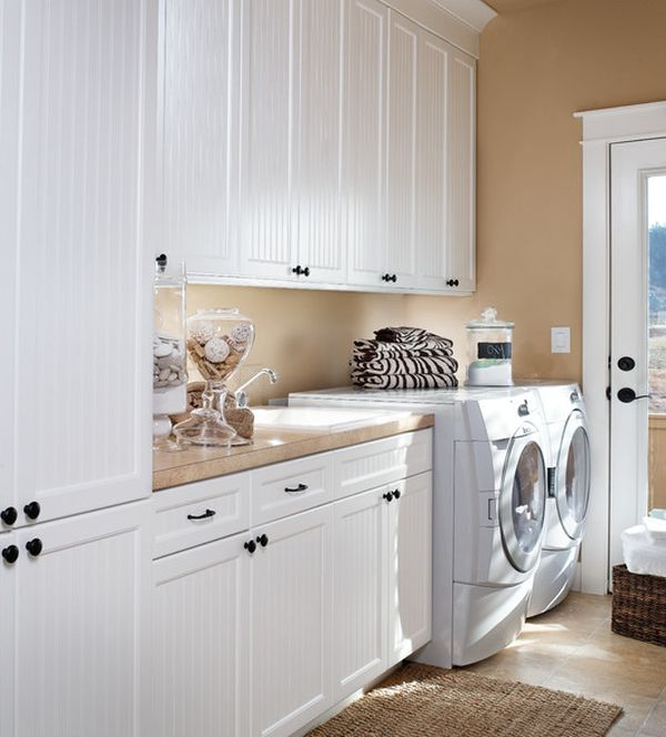 small laundry rooms usually lack hanging space - Laundry Design Ideas