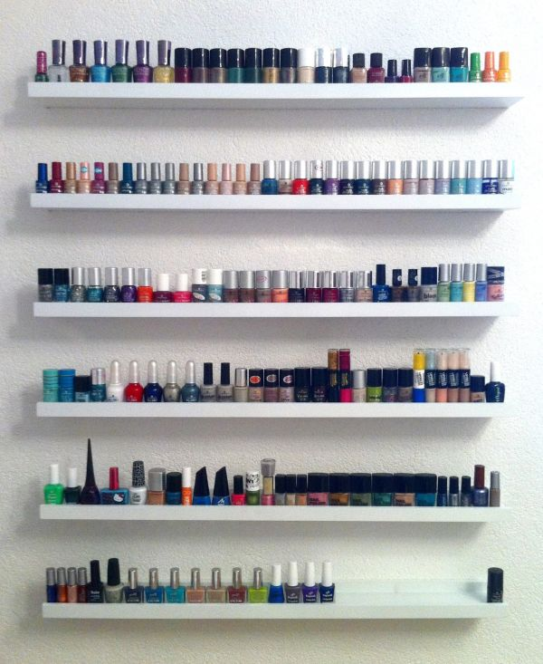 How do you store your nail polish - Rangement vernis mural ...