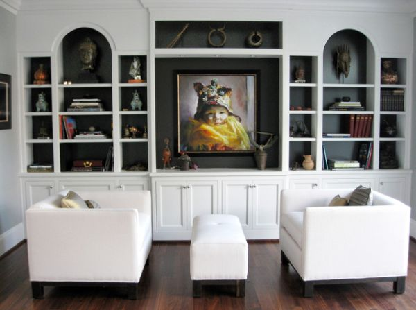 Contemporary Shelving Options For Trendy Living Rooms Great Pictures