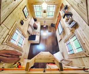 The Tiny Tack House – a wooden mobile home built on a trailer