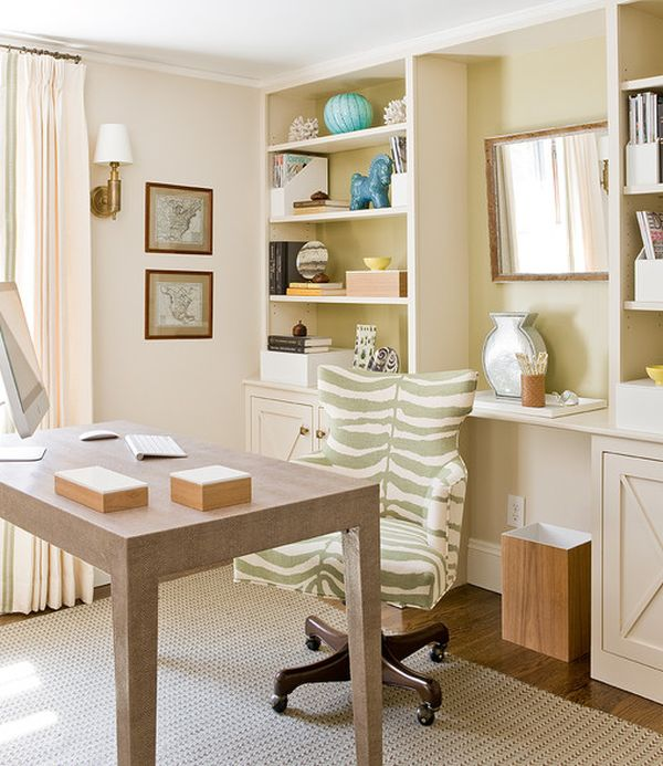 Small Office Den Decorating Ideas: DIY Home Office Décor