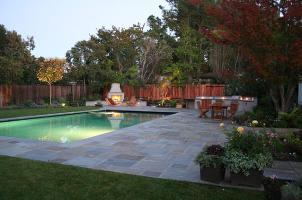 20 backyard pool design ideas for a hot summer for Pool images backyard