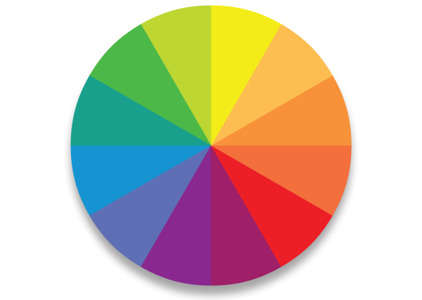 A guide to successful colour coordinating in the home for Picture of colour wheel