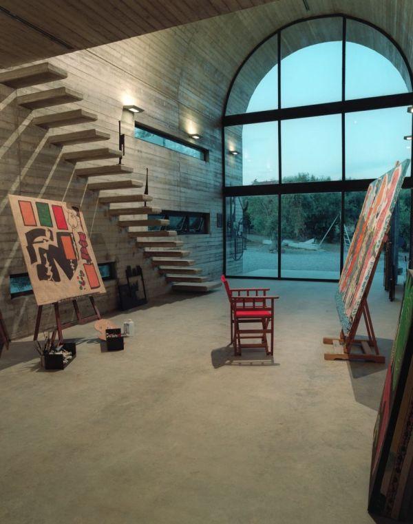 19 artist s studios and workspace interior design ideas. Black Bedroom Furniture Sets. Home Design Ideas