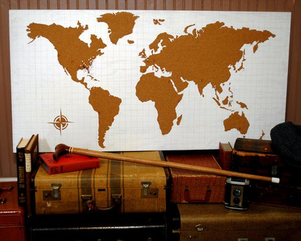 31 things you never knew you could do with cork cork world map gumiabroncs Choice Image
