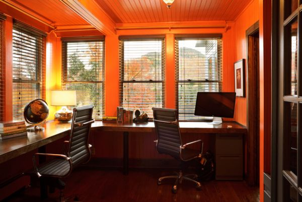 Maximize your office space with a corner desk Shared home office design ideas