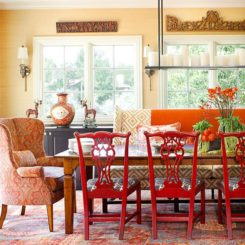 Burning Bold Details Orange And Red Rooms