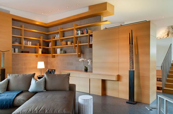 Contemporary Custom Shelving.