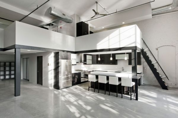 Modern residence design office featuring a minimalist for Modern minimalist office design