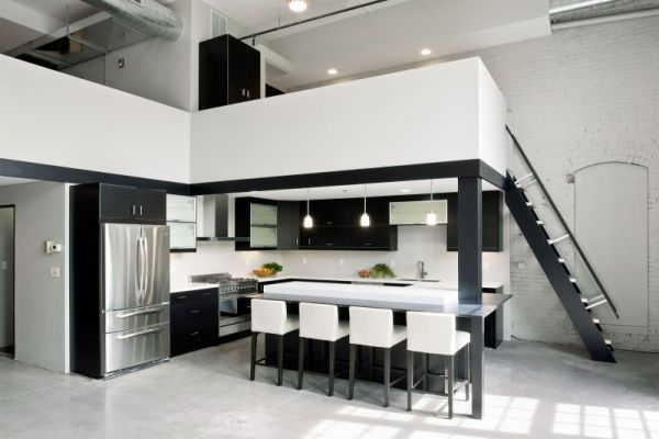 Modern Residence Design Office Featuring A Minimalist Black And