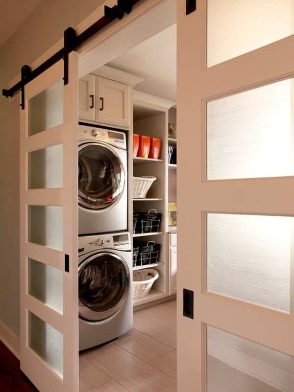 Well organized laundry rooms that take the hassle away for Modelo de lavaderos en casa