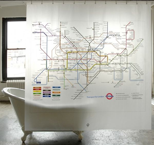 London Underground Shower Curtain.