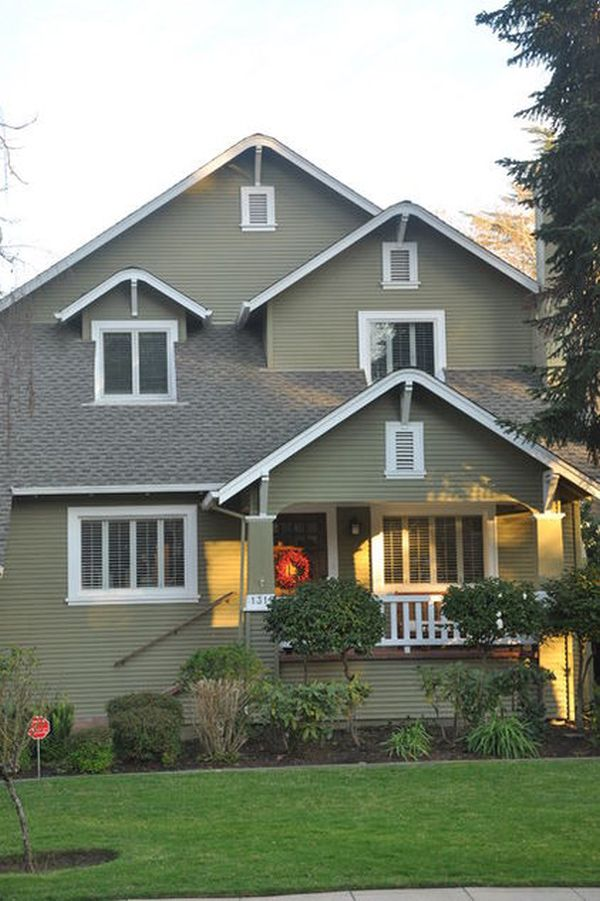 How to incorporate green tones in your home 39 s exterior - Good exterior house paint pict ...