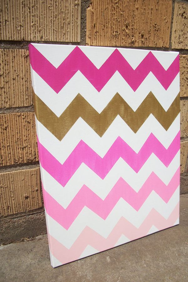 How To Chevron Paint Canvas