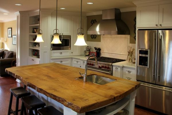 wood tops for kitchen islands 15 stylish wood furniture and features with edge 26250