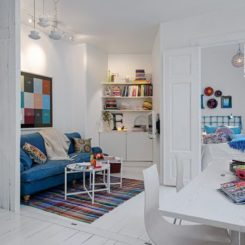 Captivating A Charming White Apartment With Colorful Accents In Sweden Idea