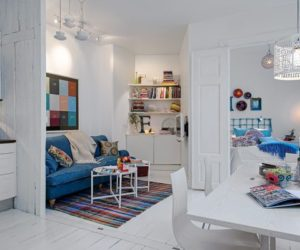 A Charming White Apartment With Colorful Accents In Sweden