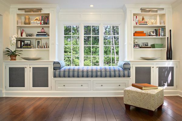 30 window seats cozy space saving and great for for Window placement in living room